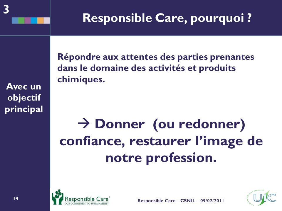 Responsible Care, pourquoi