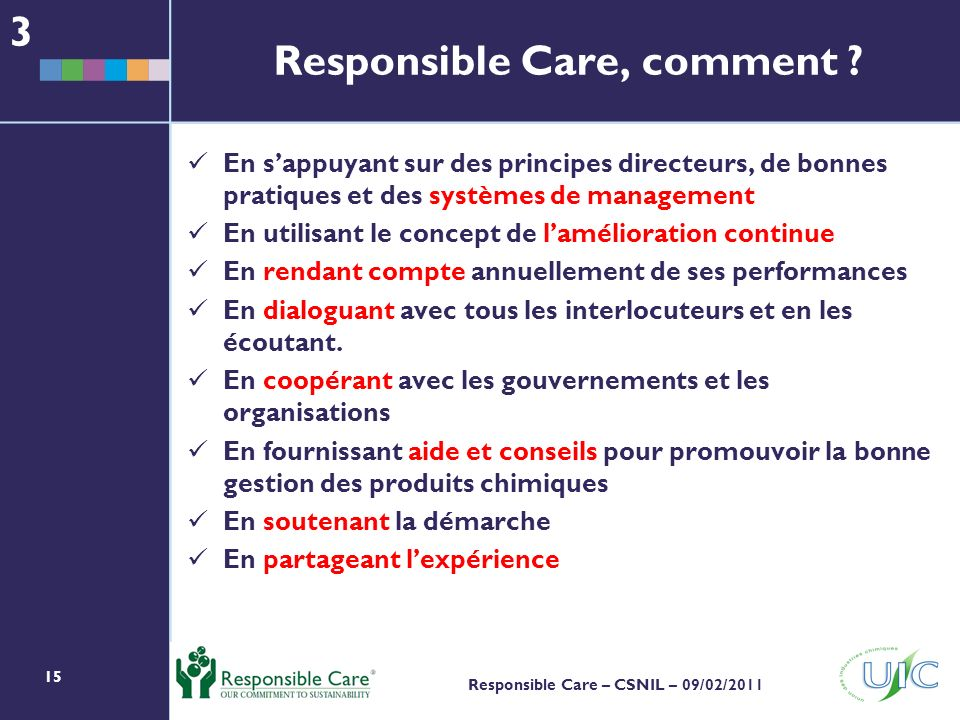 Responsible Care, comment