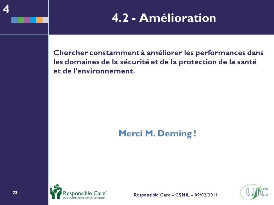 4 4.2 - Amélioration Merci M. Deming !