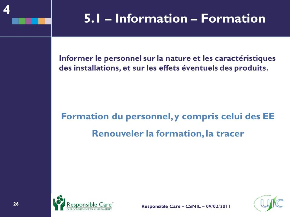 5.1 – Information – Formation