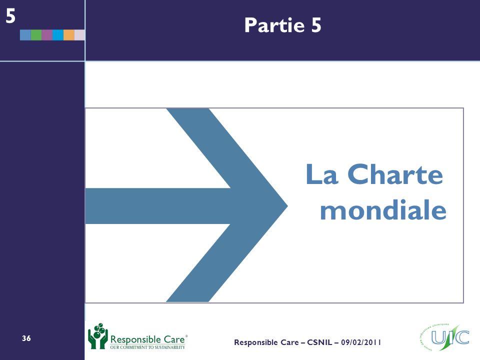 5 Partie 5 La Charte mondiale