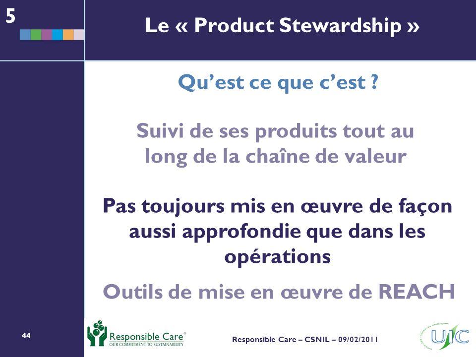 Le « Product Stewardship »