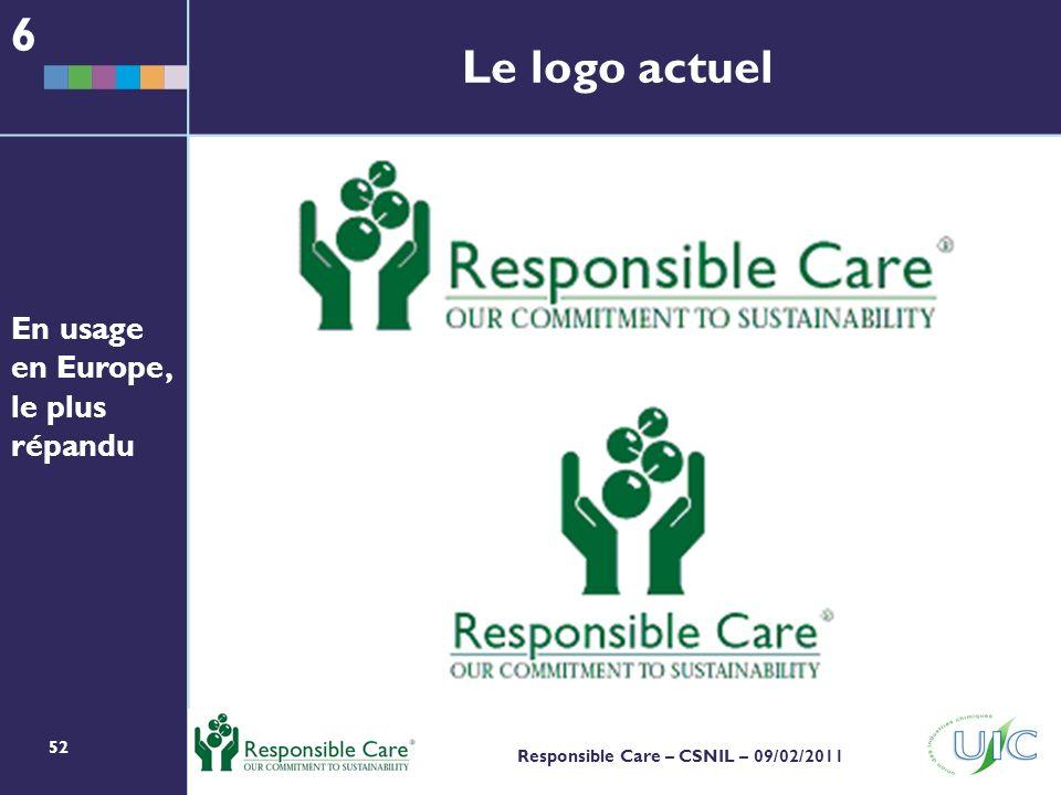 6 Le logo actuel En usage en Europe, le plus répandu