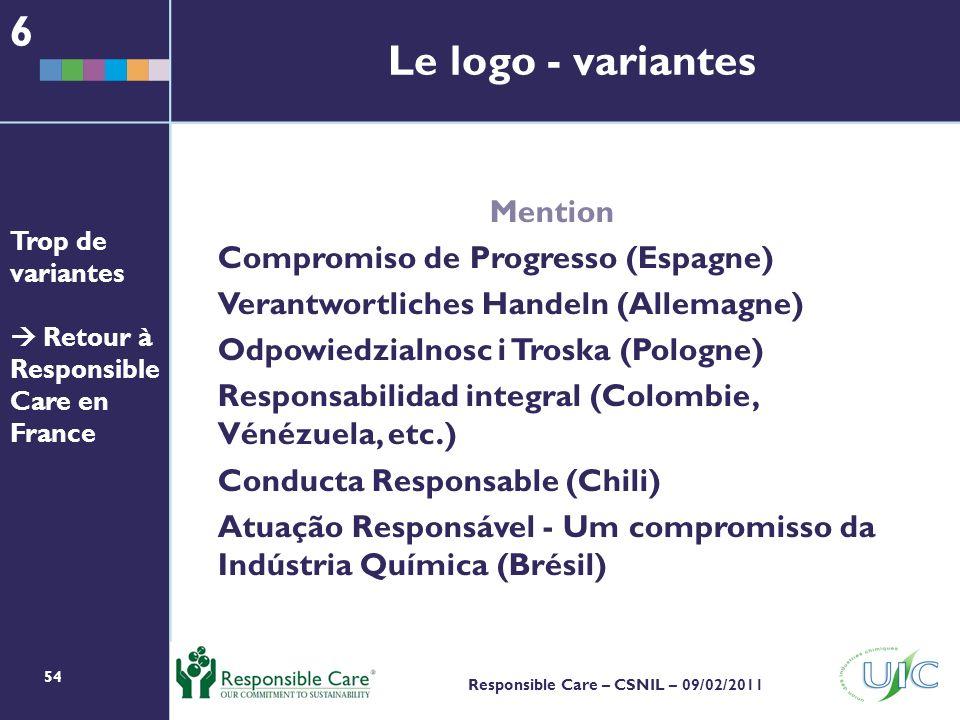 6 Le logo - variantes Mention Compromiso de Progresso (Espagne)