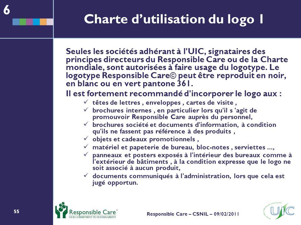 Charte d'utilisation du logo 1