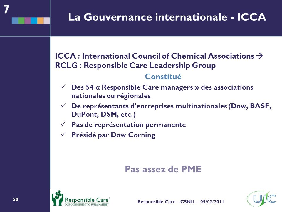 La Gouvernance internationale - ICCA