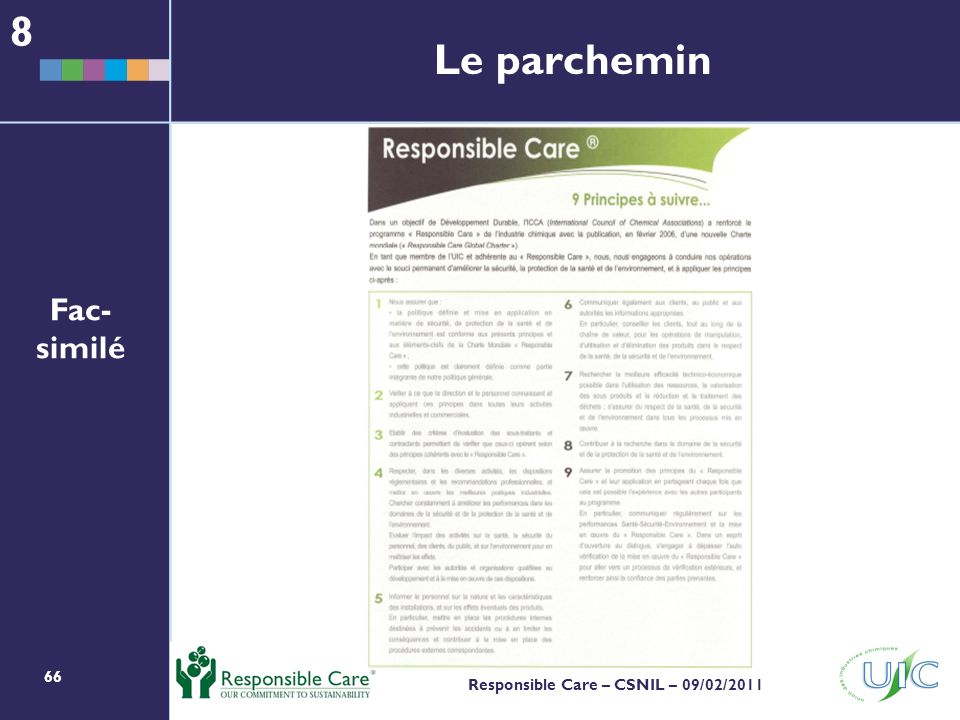 8 Le parchemin Fac-similé