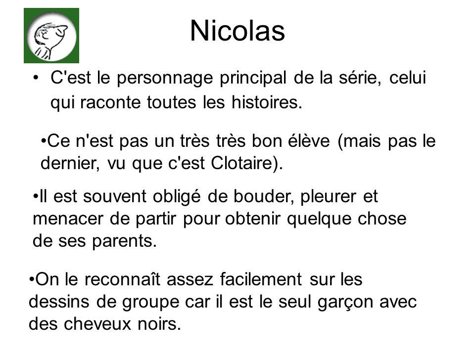 Nicolas C est le personnage principal de la série, celui qui raconte toutes les histoires.