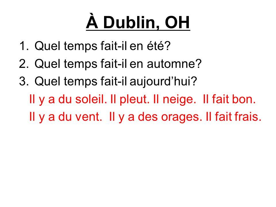 À Dublin, OH Quel temps fait-il en été Quel temps fait-il en automne