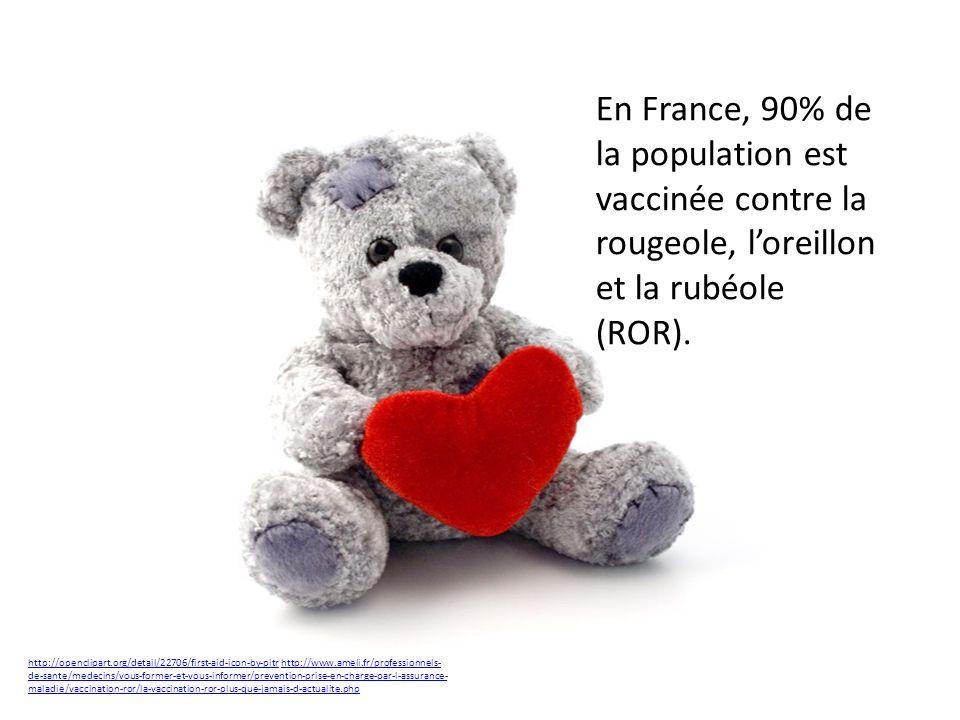 En France, 90% de la population est vaccinée contre la rougeole, l'oreillon et la rubéole (ROR).