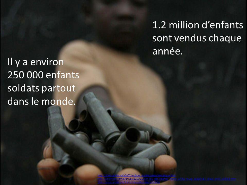 1.2 million d'enfants sont vendus chaque année.