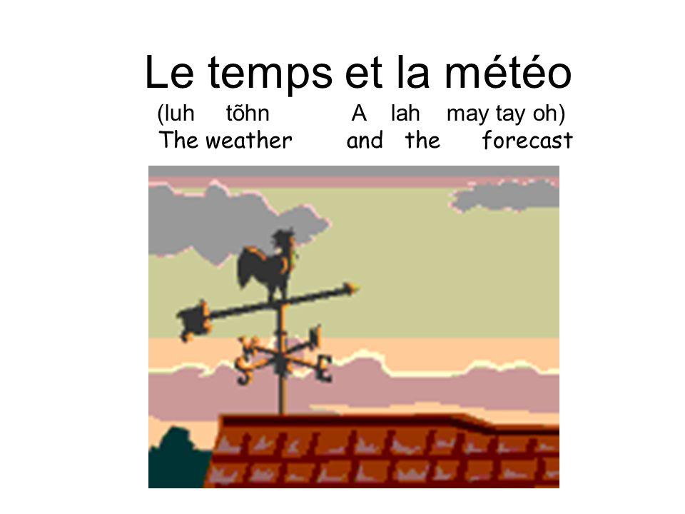 Le temps et la météo (luh tõhn A lah may tay oh)