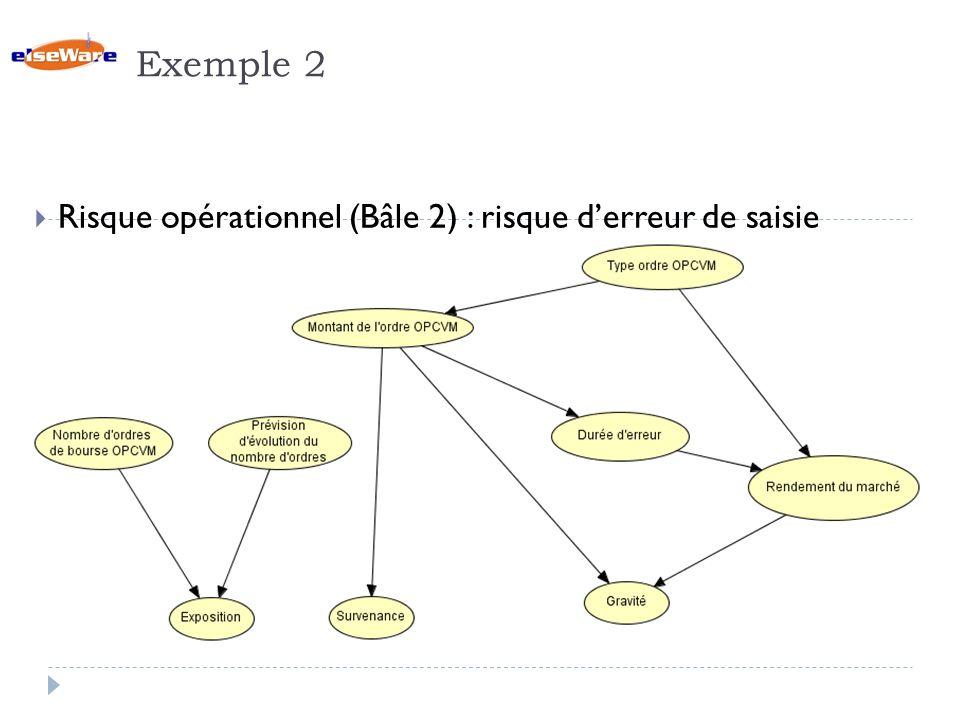 Exemple 2 Risque opérationnel (Bâle 2) : risque d'erreur de saisie