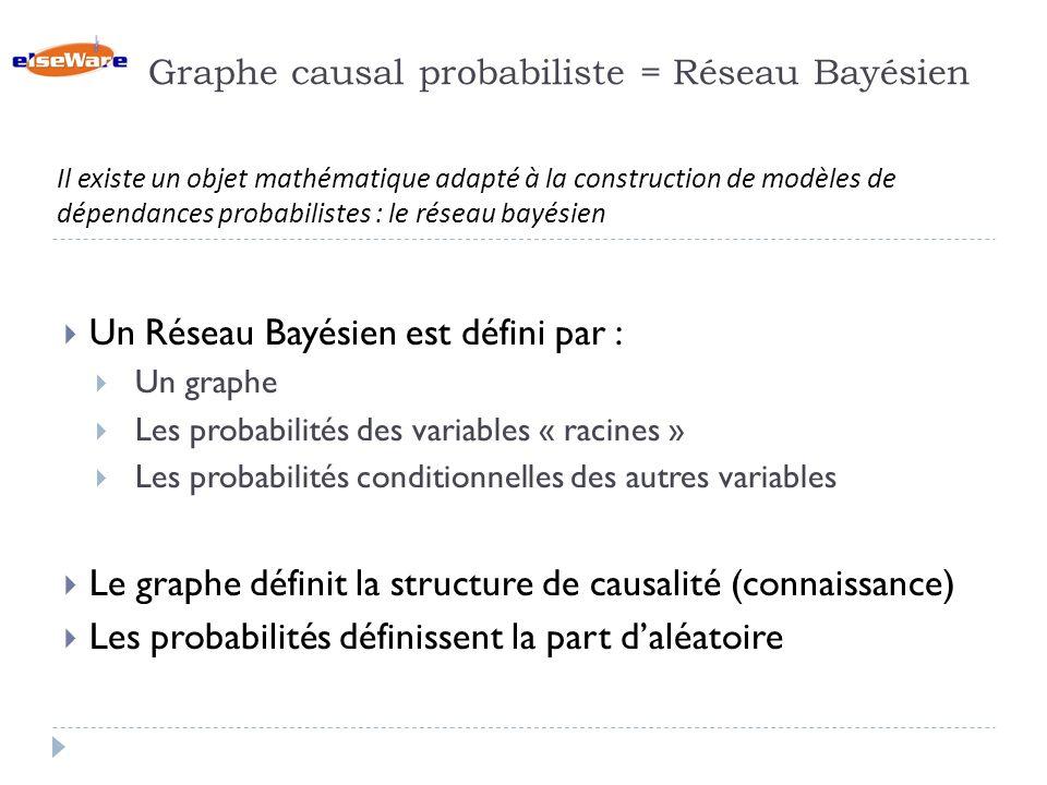 Graphe causal probabiliste = Réseau Bayésien