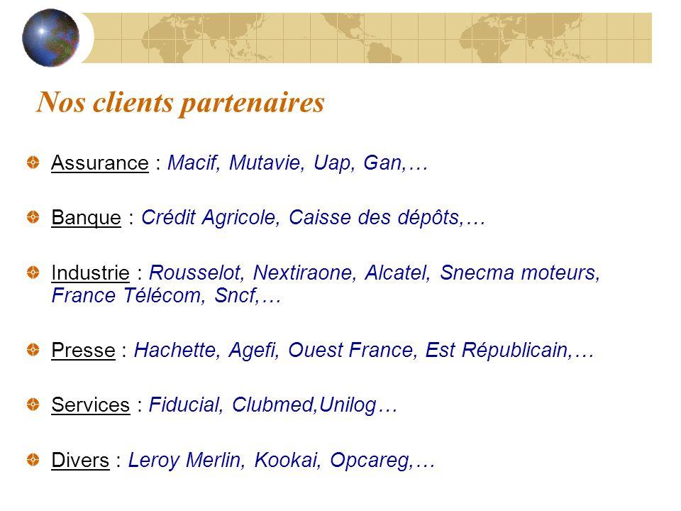 Nos clients partenaires