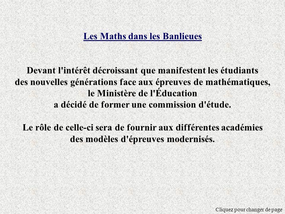 Les Maths dans les Banlieues
