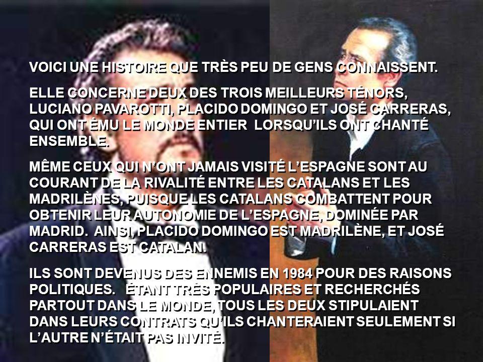 VOICI UNE HISTOIRE QUE TRÈS PEU DE GENS CONNAISSENT.