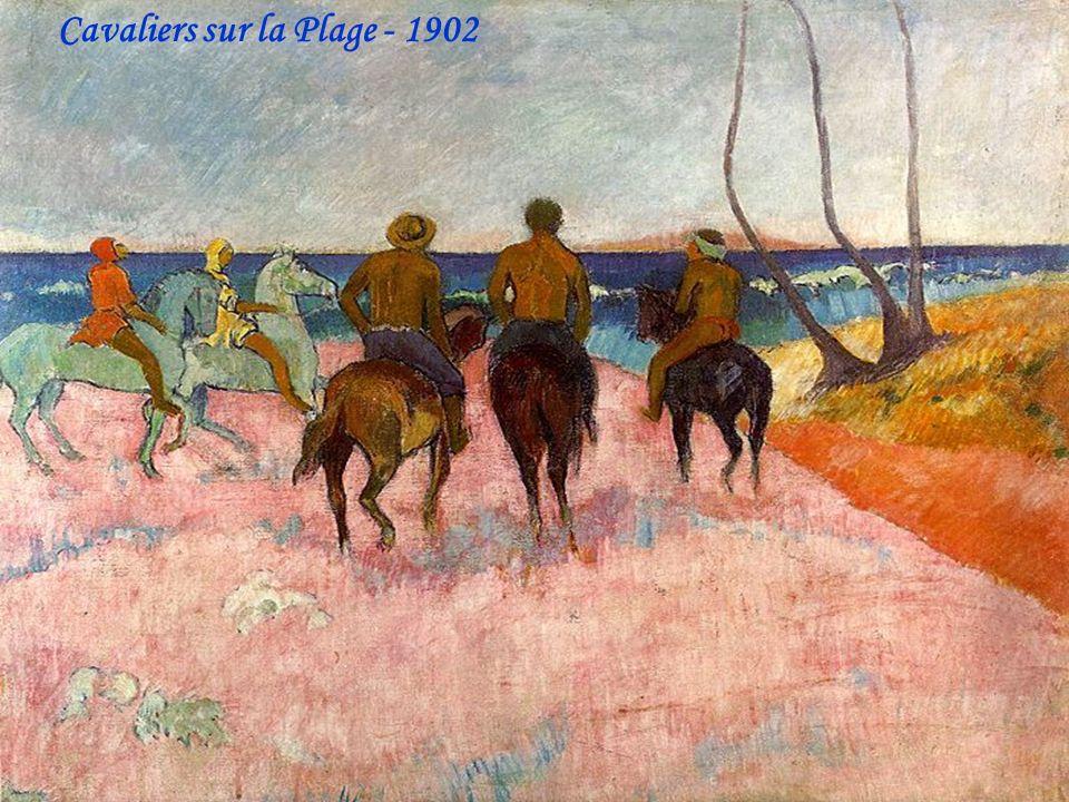 Cavaliers sur la Plage - 1902