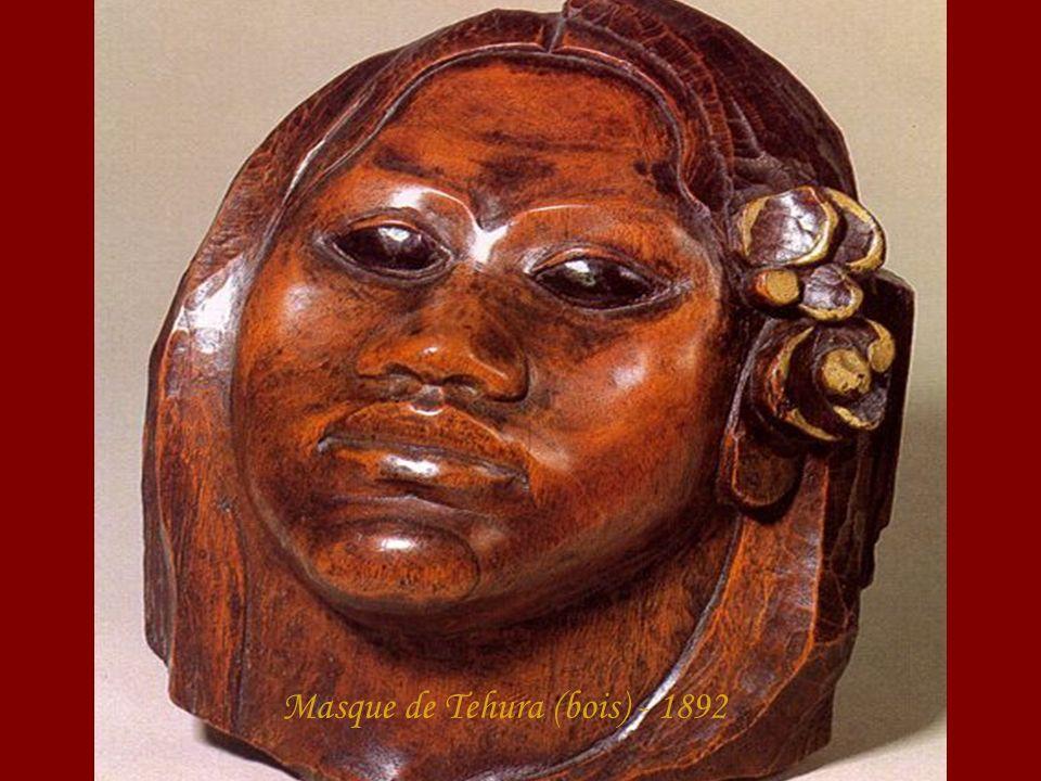 Masque de Tehura (bois) - 1892