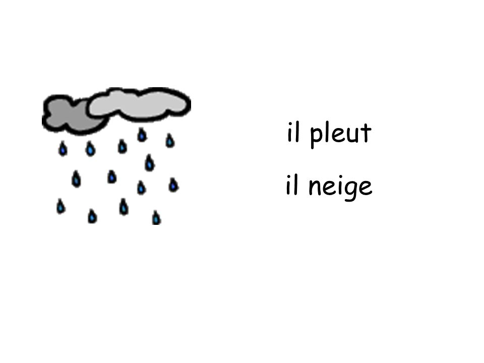 il pleut il neige
