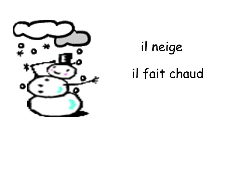 il neige il fait chaud