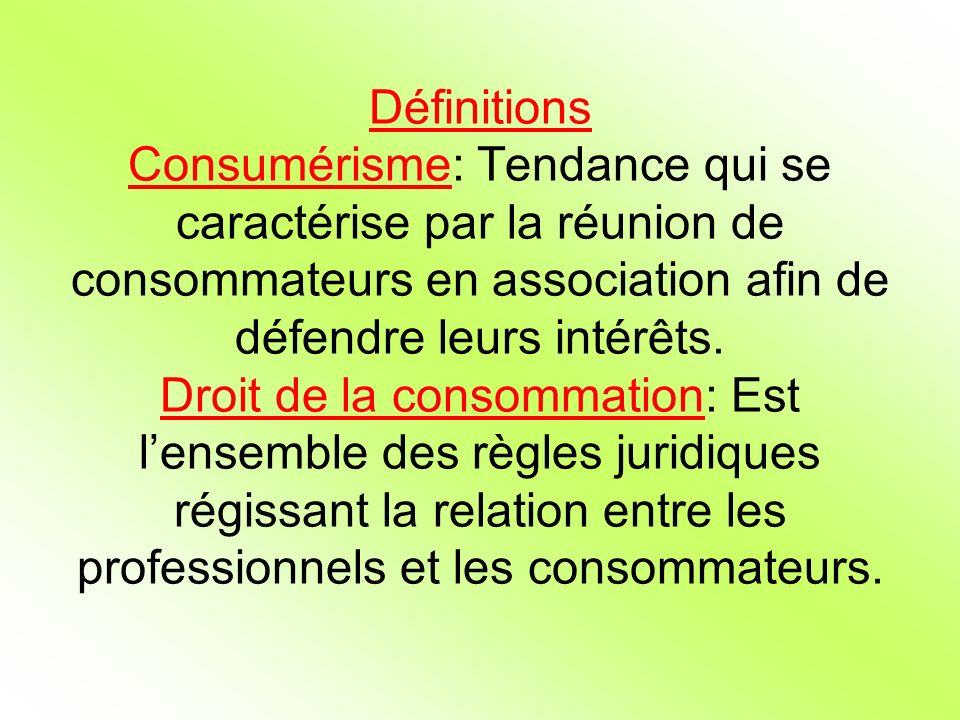 Définitions Consumérisme: Tendance qui se caractérise par la réunion de consommateurs en association afin de défendre leurs intérêts.