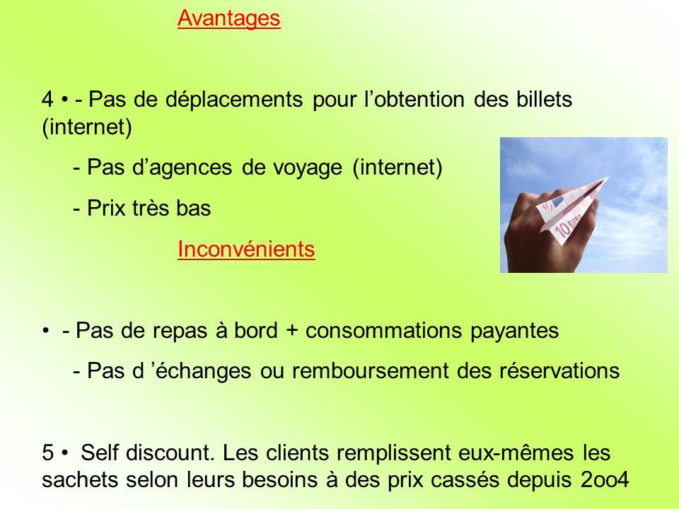4 • - Pas de déplacements pour l'obtention des billets (internet)