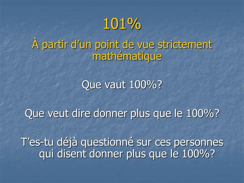 101% À partir d'un point de vue strictement mathématique