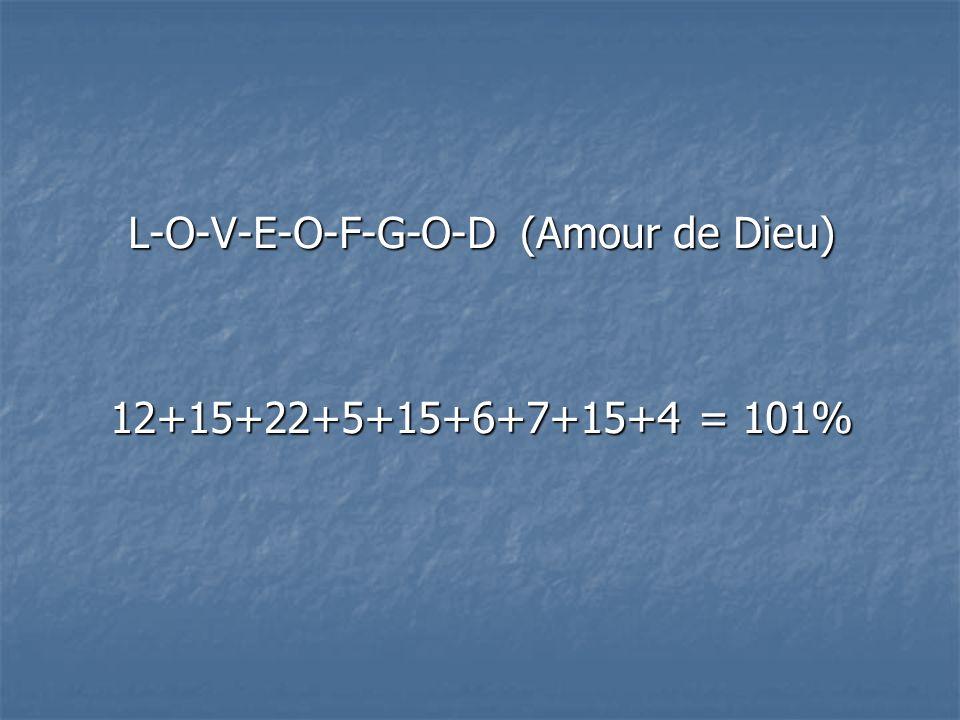L-O-V-E-O-F-G-O-D (Amour de Dieu)