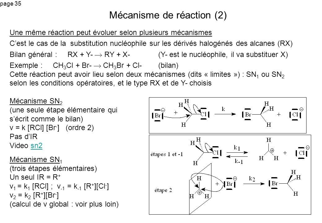 Mécanisme de réaction (2)