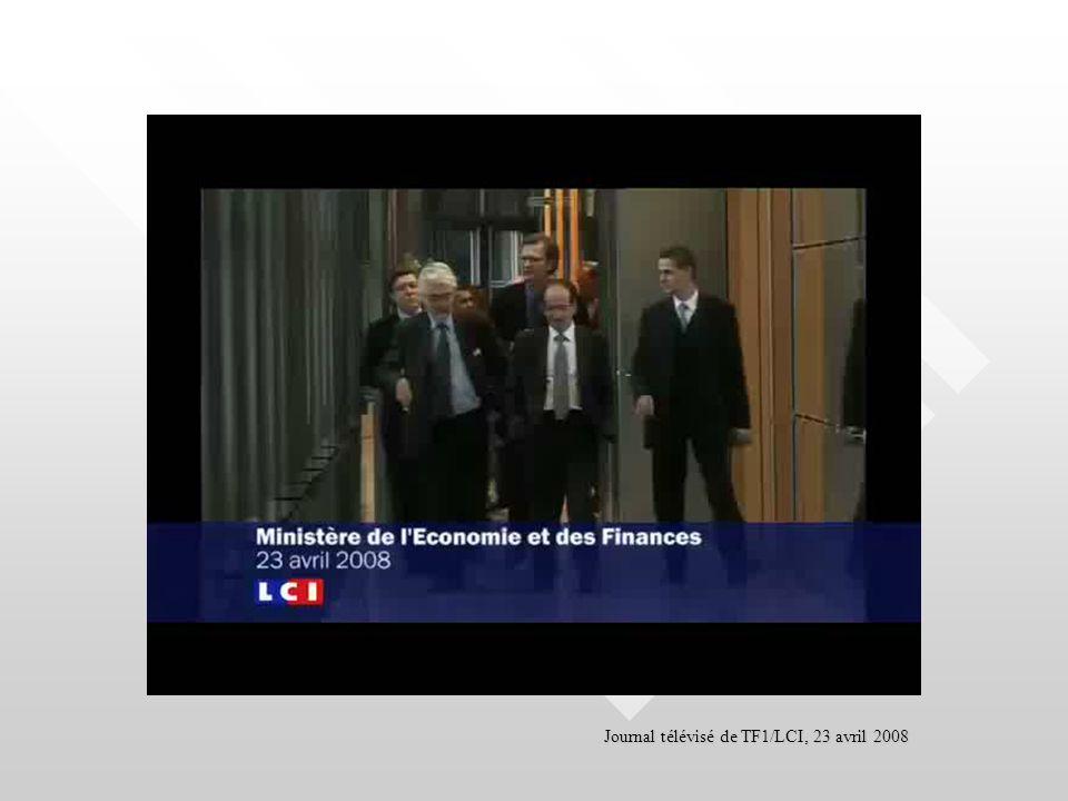 Journal télévisé de TF1/LCI, 23 avril 2008