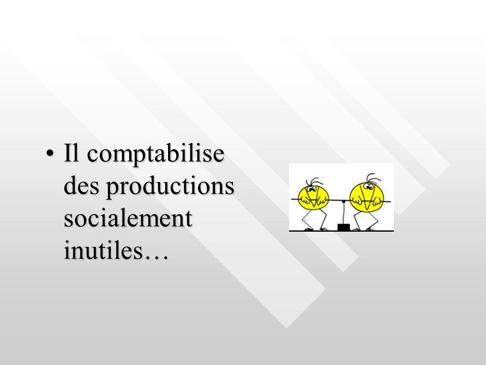 Il comptabilise des productions socialement inutiles…