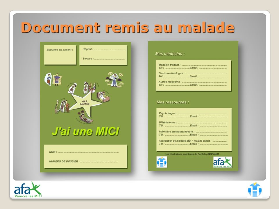 Document remis au malade