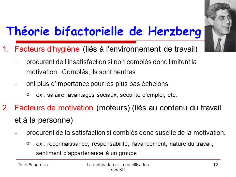 Théorie bifactorielle de Herzberg