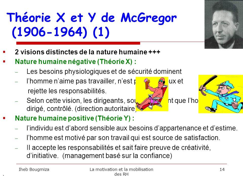 Théorie X et Y de McGregor (1906-1964) (1)