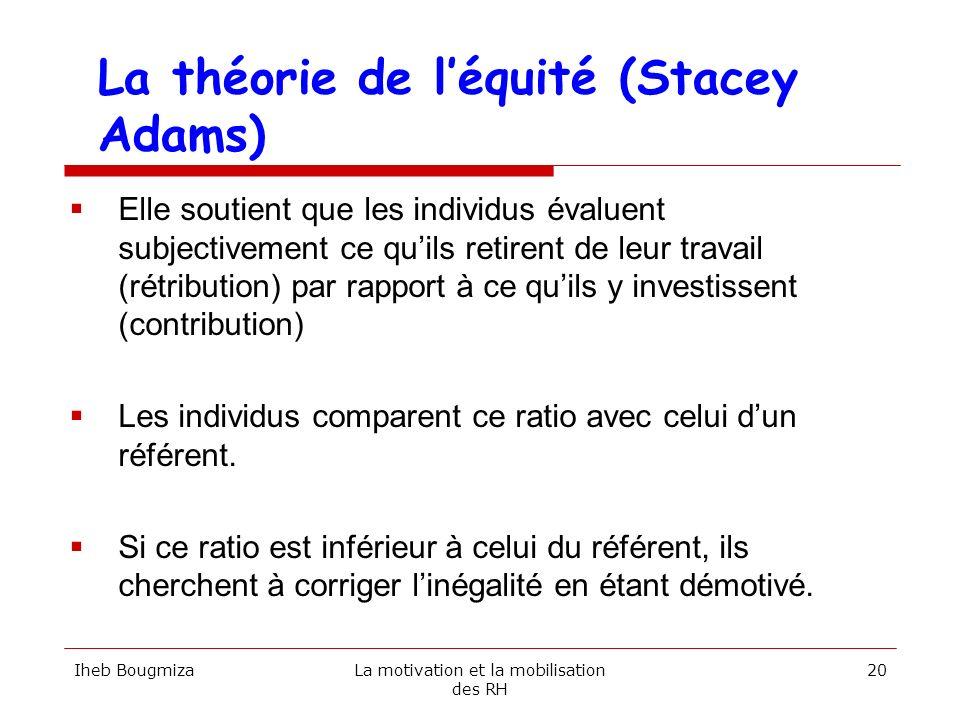 La théorie de l'équité (Stacey Adams)