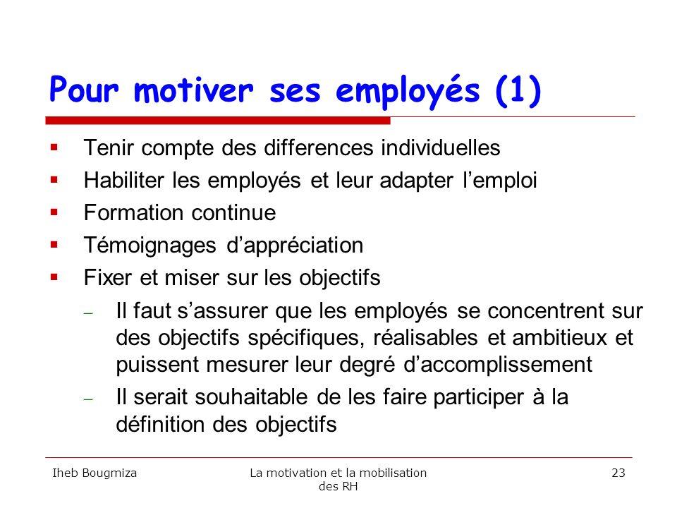 Pour motiver ses employés (1)