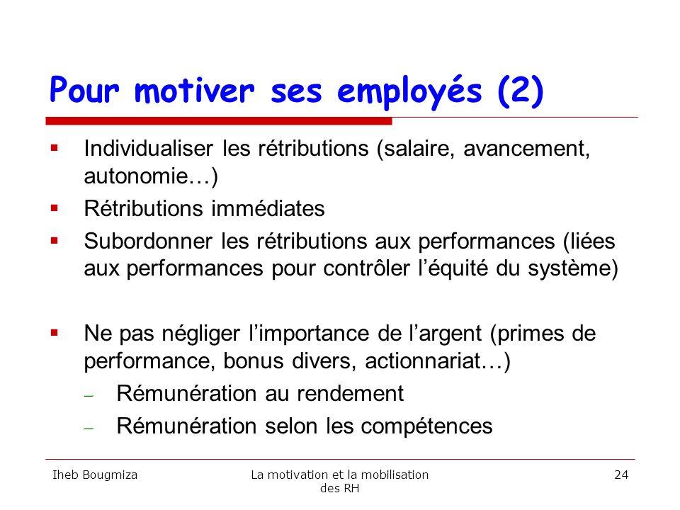 Pour motiver ses employés (2)