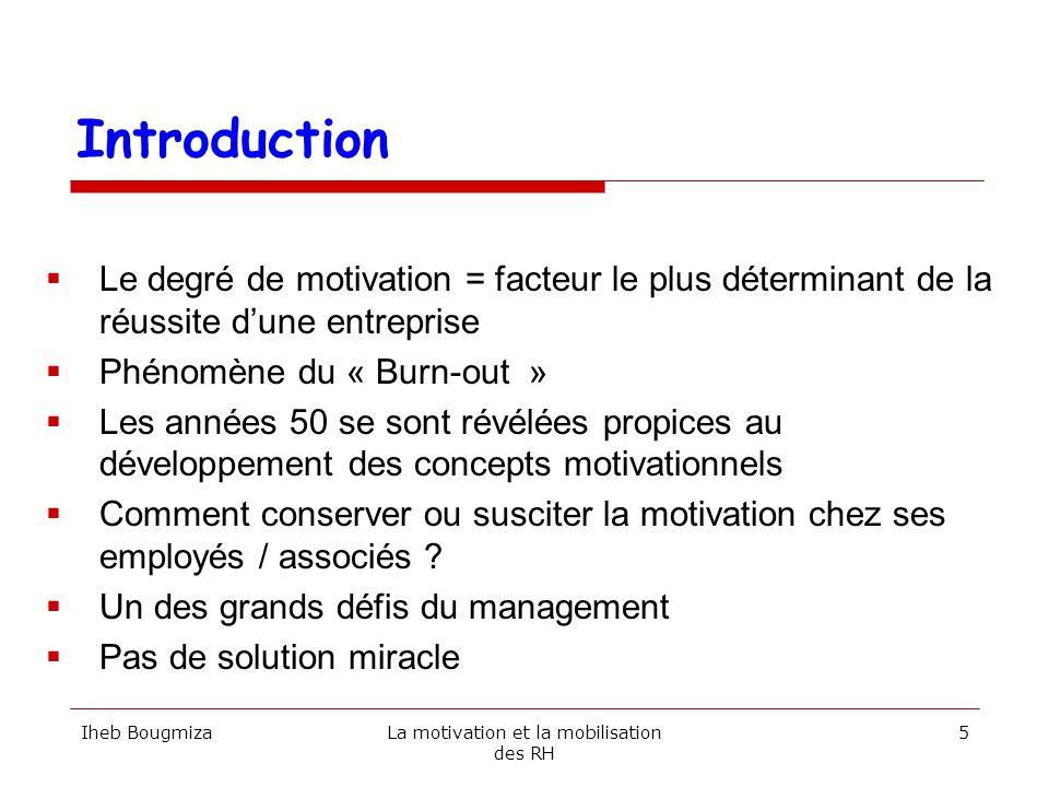 La motivation et la mobilisation des RH
