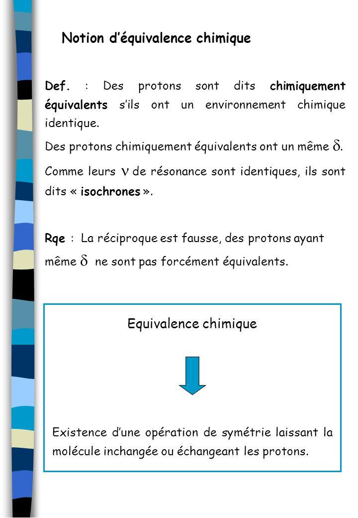 Notion d'équivalence chimique