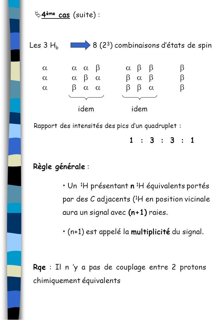 a a b a b b a a b b a b a b 4ème cas (suite) : Les 3 Hb