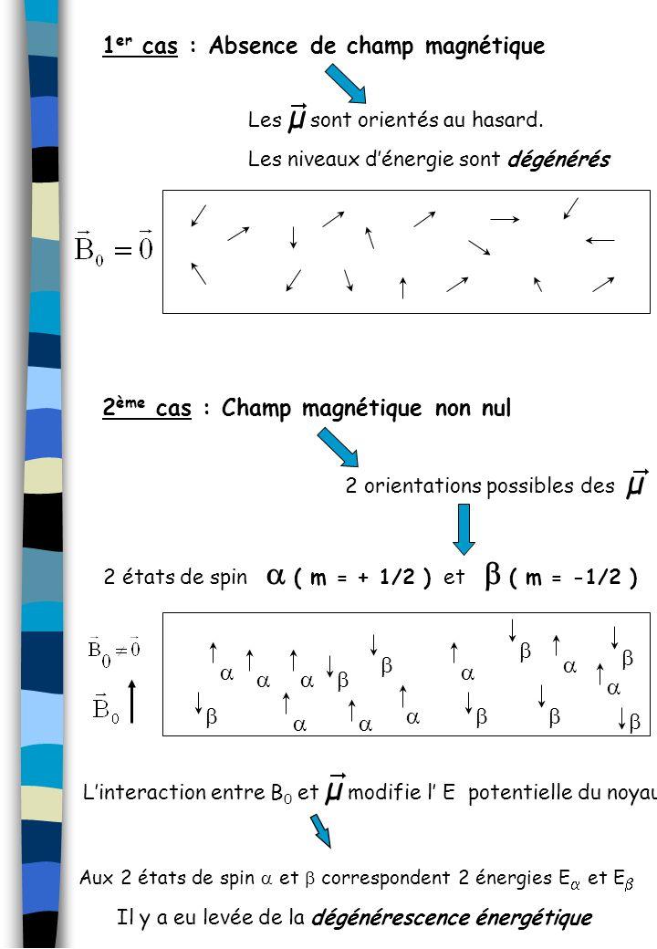 1er cas : Absence de champ magnétique