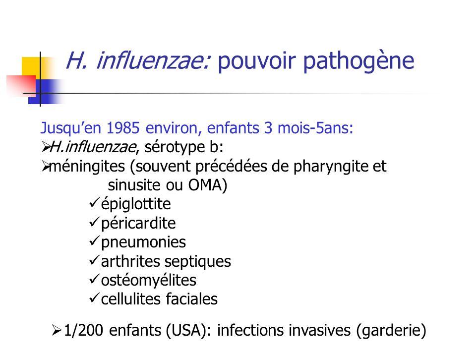 H. influenzae: pouvoir pathogène