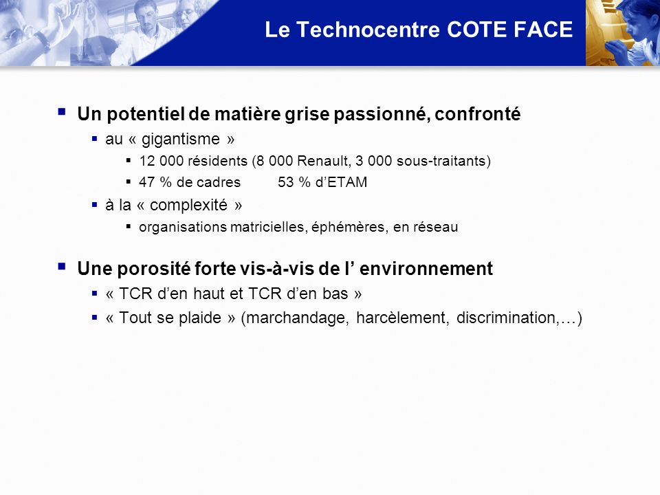 Le Technocentre COTE FACE
