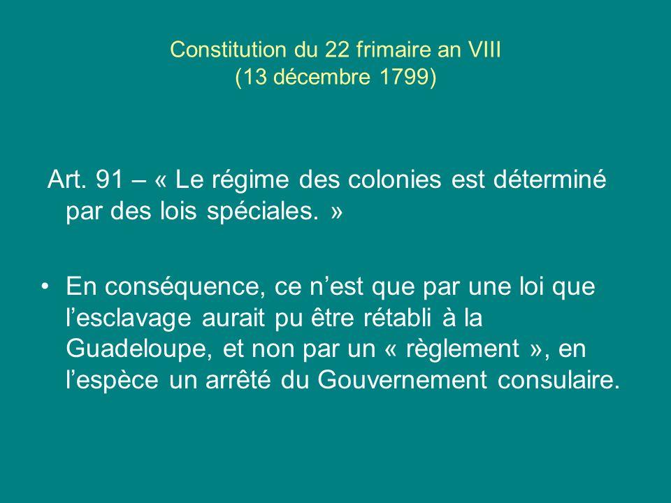Constitution du 22 frimaire an VIII (13 décembre 1799)