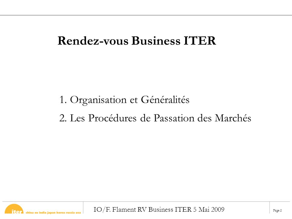 Rendez-vous Business ITER