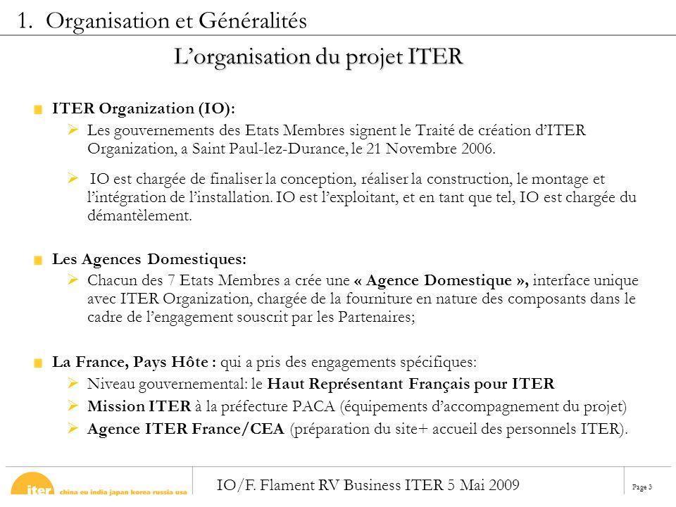 L'organisation du projet ITER