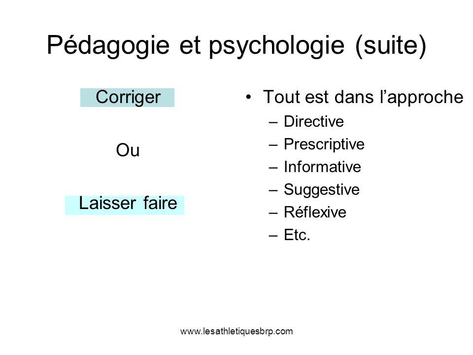 Pédagogie et psychologie (suite)