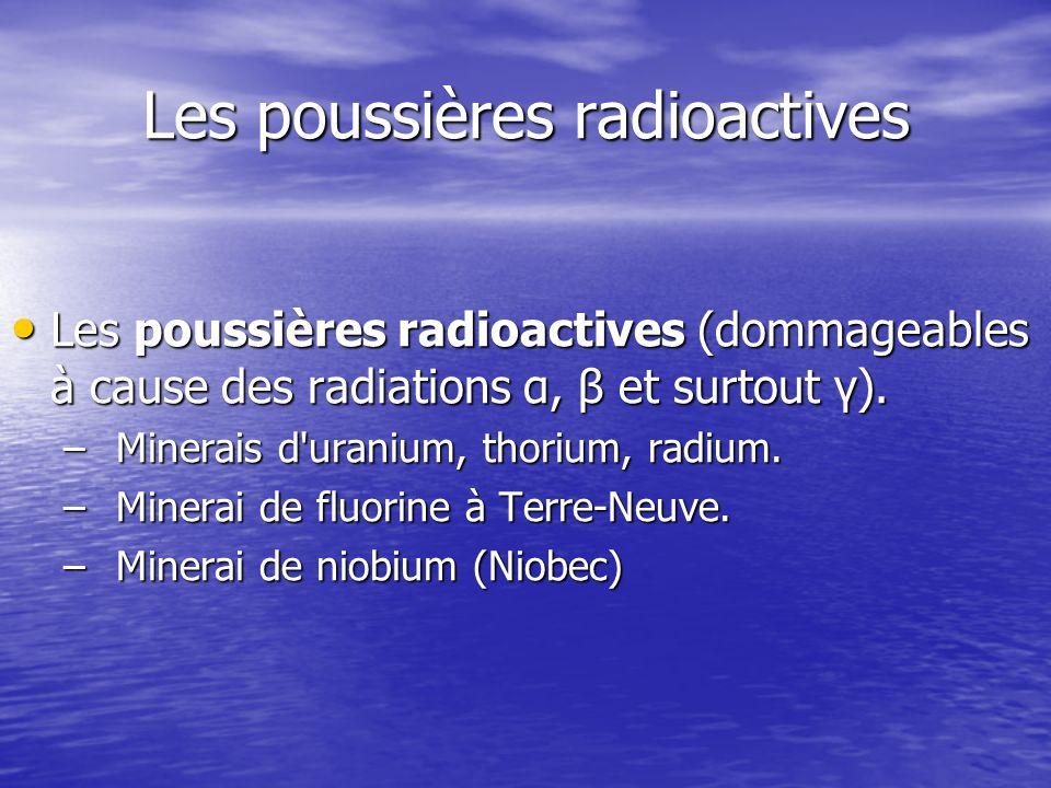 Les poussières radioactives