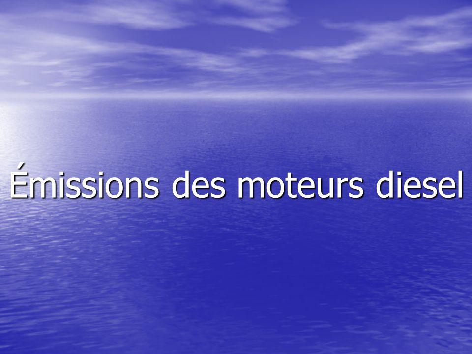 Émissions des moteurs diesel